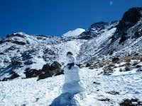 Snowman on Orizaba