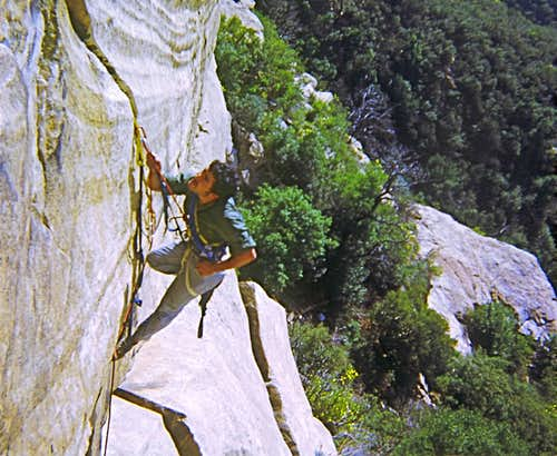 Before I could free climb this crack-1970