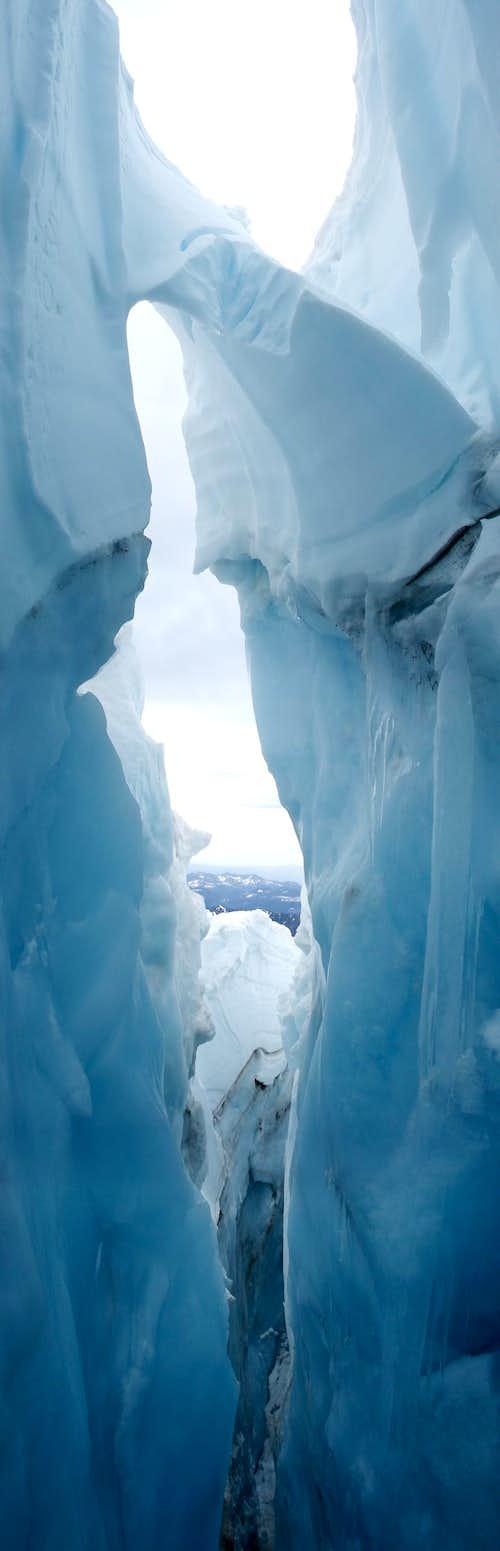 Nisqually Glacier Crevasse - Rainier