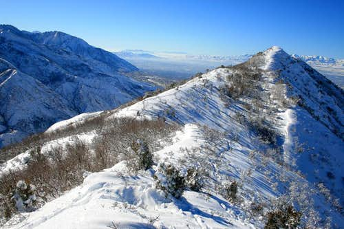 Perkins Peak and Mt. Olympus.