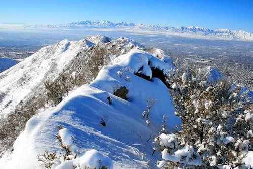 From the summit of Perkins Peak looking west.