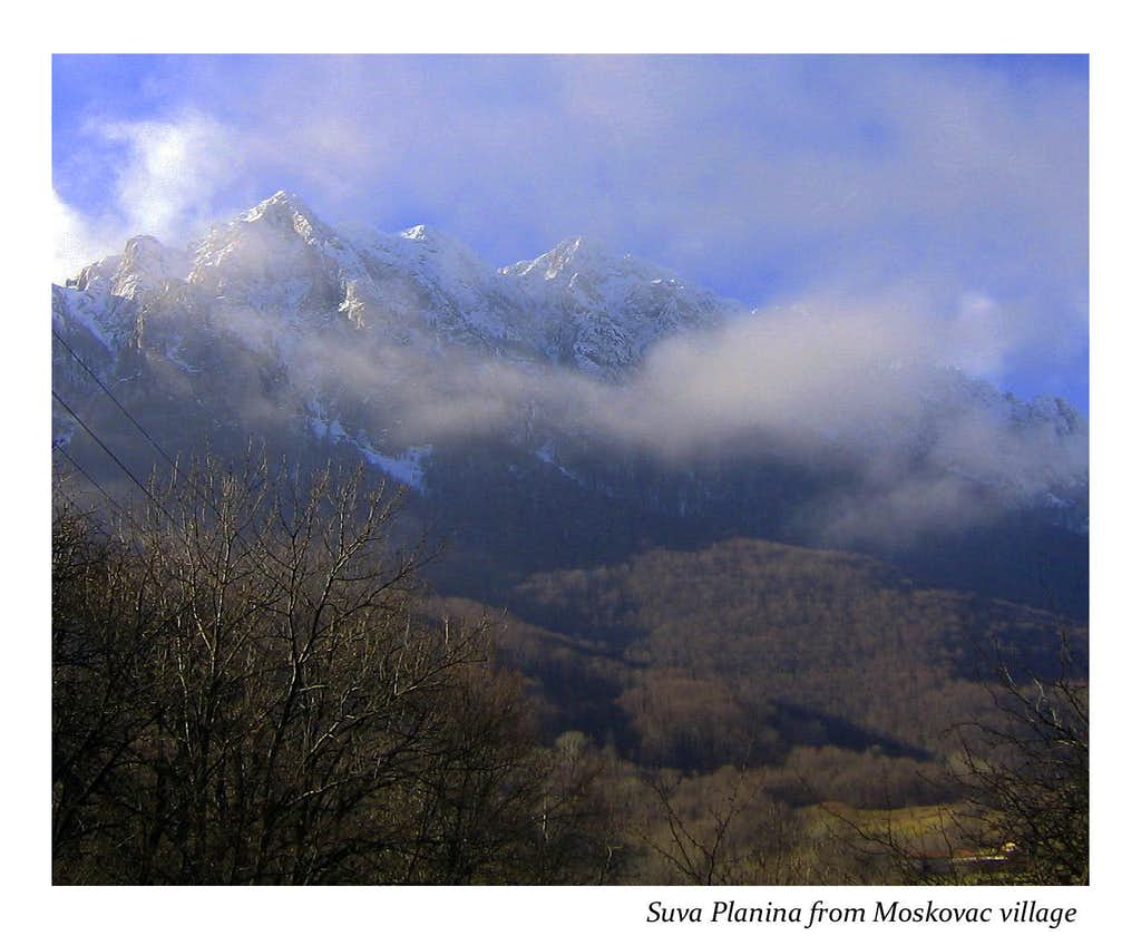 Trem massif from Smokovac Village