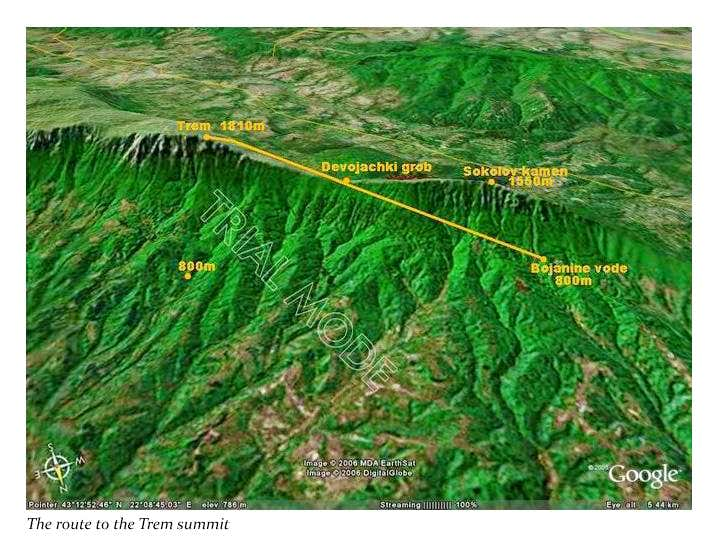 The route to the Trem summit