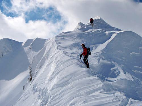 The start of the Terminilletto north ridge