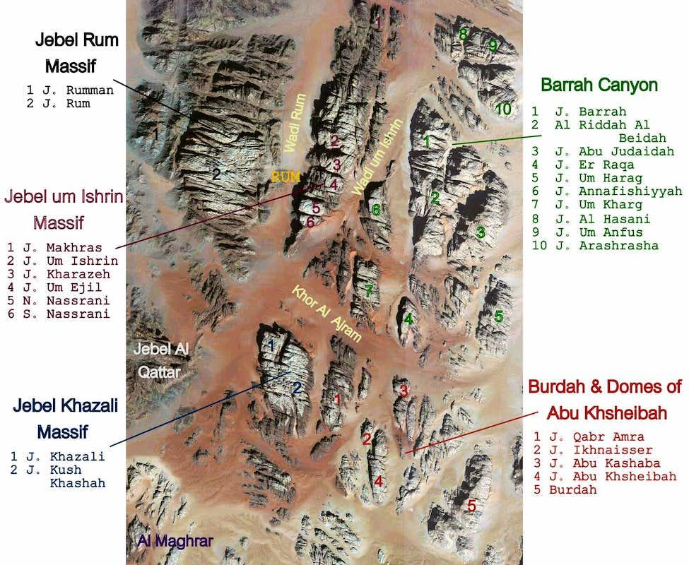 Wadi Rum Map Photos Diagrams Amp Topos Summitpost