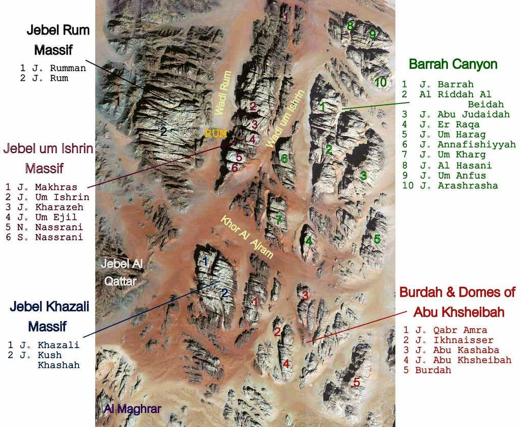 Wadi Rum map