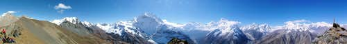 Samdopeak (5177m) summitpanorama