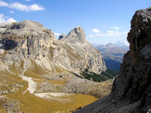 View from Forcella de Ciampei...