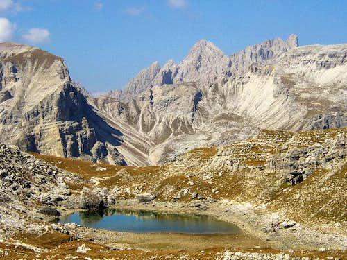 Near Crespeina Lake: view of...