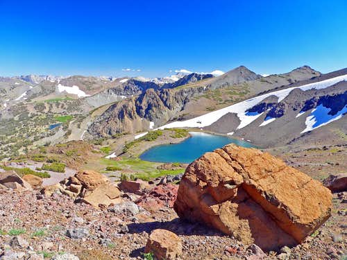 Latopie Lake from Pass 10,800 south of Sonora Pass, Northern Sierra
