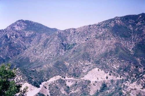 Strawberry Peak (on left),...