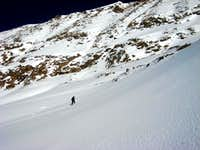 Kevin on the snow slopes below Atlantic Peak