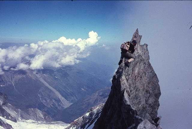 Zinalrothorn north ridge