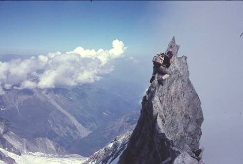 Zinalrothorn north ridge