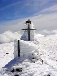 The cross of the summit of...