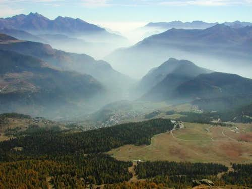 View on the Aosta Valley from...