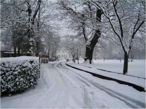 Snow in London Jan 2009
