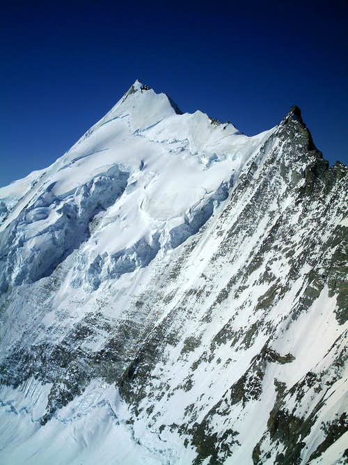 view of Weisshorn from the summit