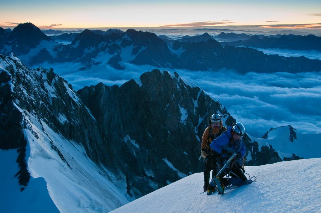 Just about to hit summit on sunrise on Ledenfeld