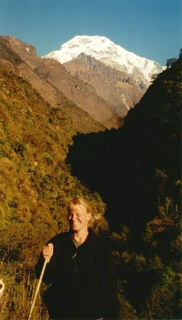 Annapurna South from trail to...