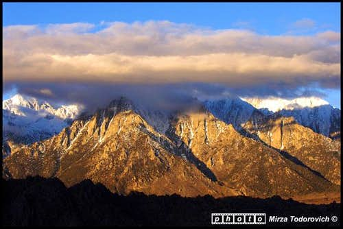 Clouds covering Lone Pine...