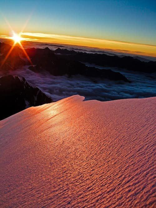 An icy sunrise on Ledenfeld