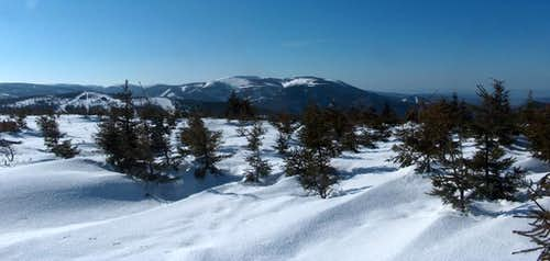 On the way to Keprník, looking to the rest of the Jeseníky range