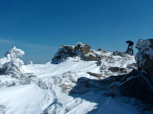 On the way to Keprník, on the top of Červená Hora