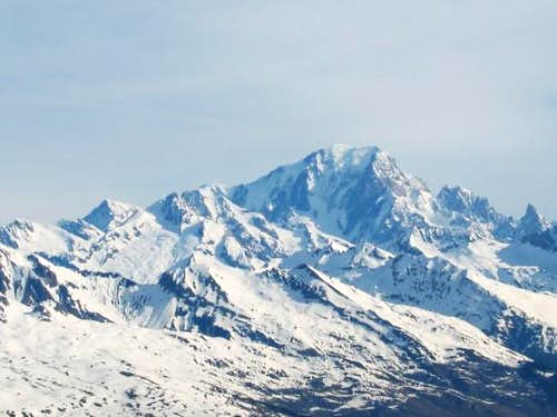 Mont Blanc, with Aiguille...