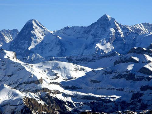 Eiger 3970m  and Mönch 4107m