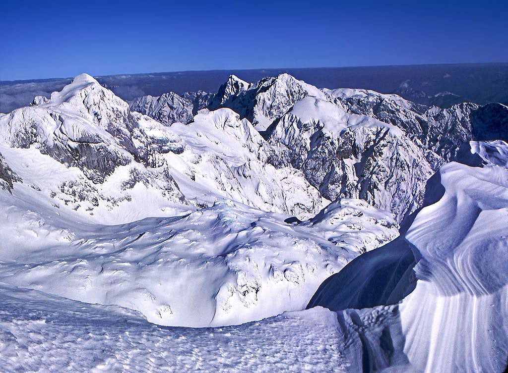 From the summit of Grintovec...