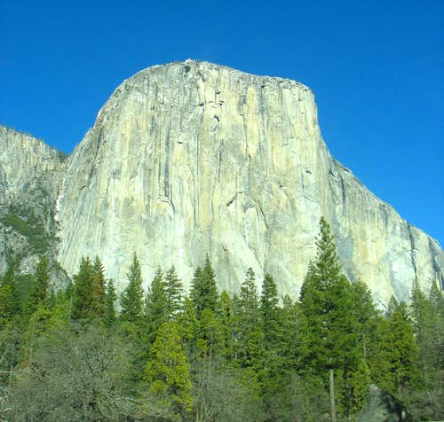 El Capitan from the main valley road