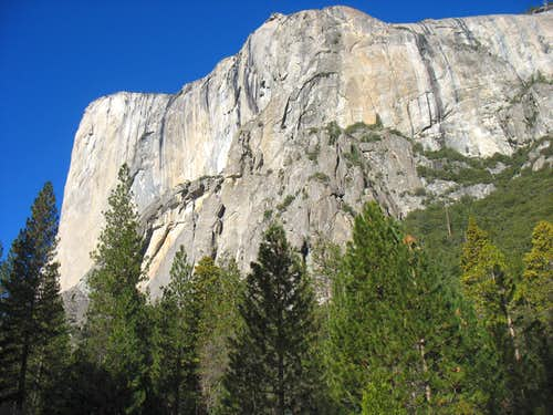 El Capitan and westernmost of Three Brothers
