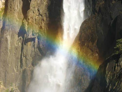 Rainbow at Lower Yosemite Fall