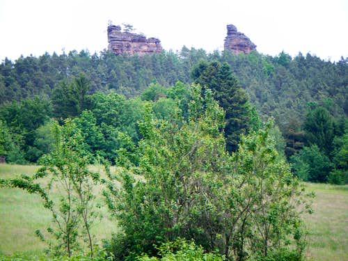 Dürrensteine as seen from Reinigshof