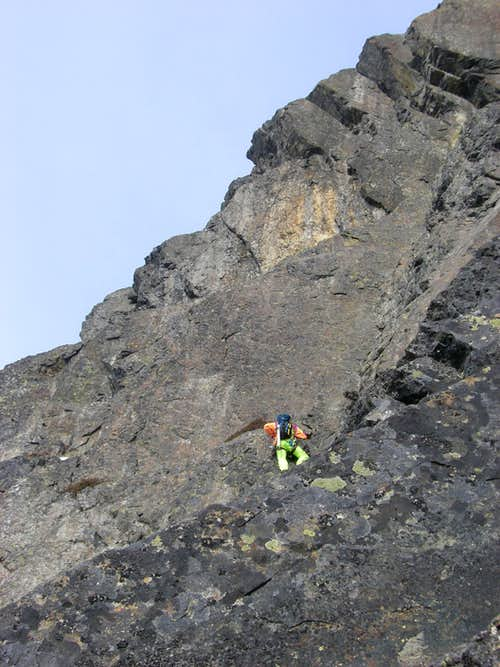 Pitch 3 traverse