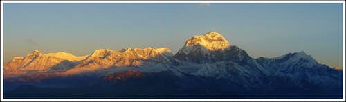 The Dhaulagiri Massif...