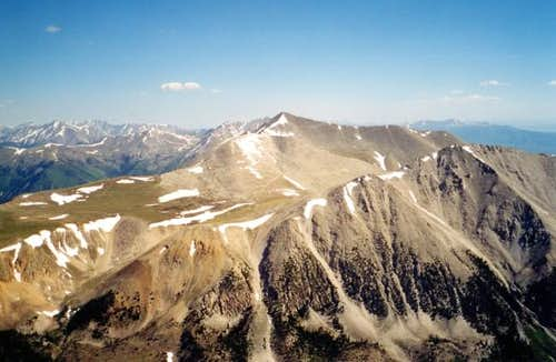 Mount Antero from the summit...