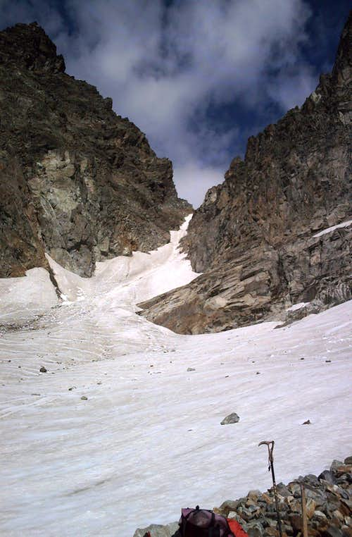 Fuorcla Buin south couloir close-up