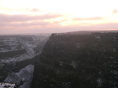 Bruneau Canyon Sunset