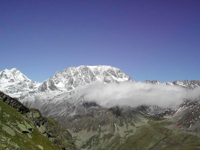 Grand Combin and Mont Velan from Pas des Chevaux