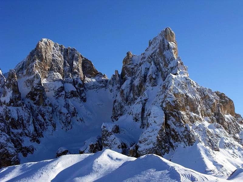 Cimon della Pala (3.184 mtrs) and Cima della Vezzana (3.192 mtrs)