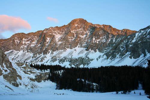 Winter sunset on Little Bear Peak