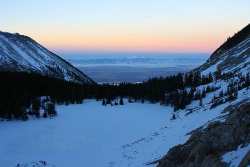 Lake Como & San Luis Valley at dawn