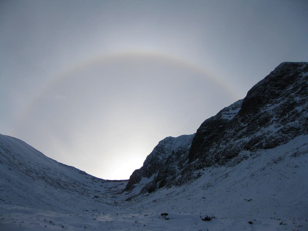 Rainbow over the North Side of Ben Nevis