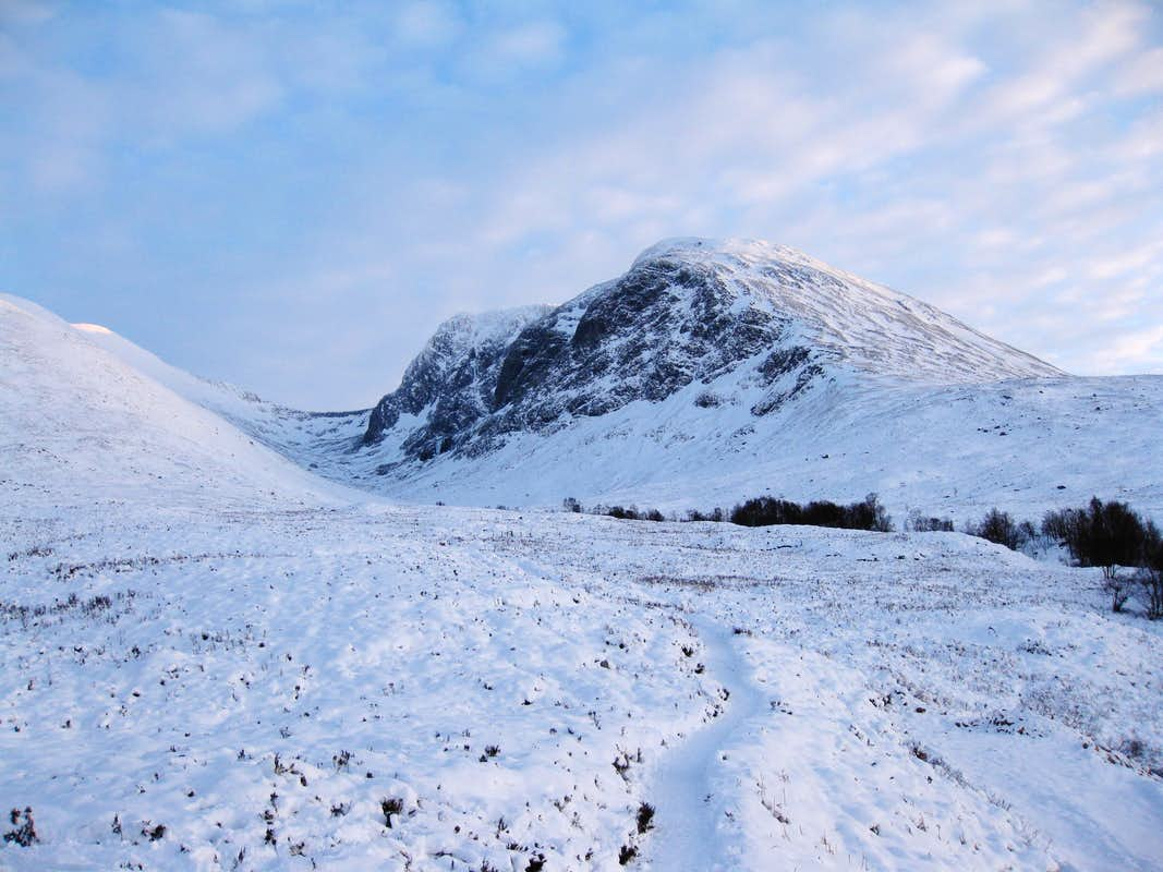North Side of Ben Nevis on a winter late afternoon