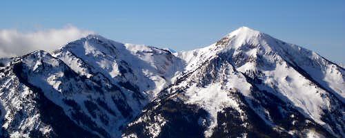 Box Elder Ridge from the east