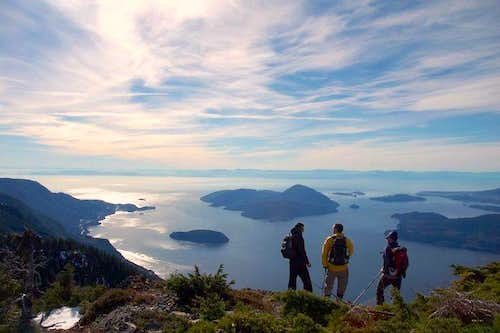 A View on Howe Sound From Mt  Hut