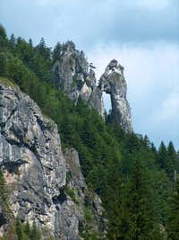 Natural arch at the entrance of the valley Vrátna Dolina, Malá Fatra