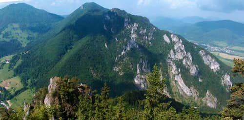 The rocks of Vrátna Dolina from Boboty, Malá Fatra
